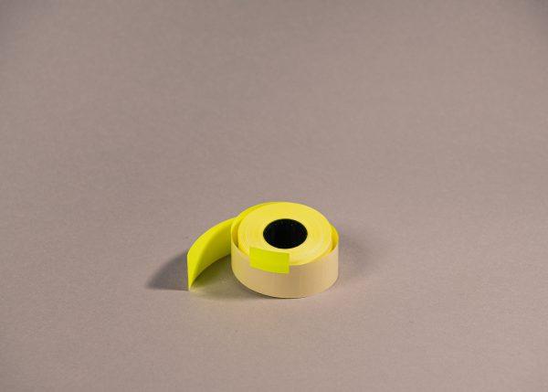 Etiketti 26x16mm suorakaide keltainen