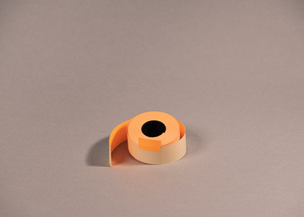 Etiketti 26x16mm suorakaide oranssi