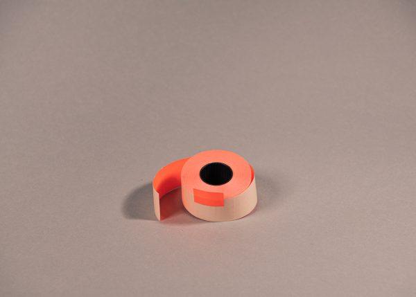 Etiketti 26x16mm suorakaide punaiinen