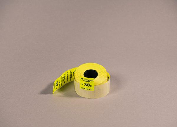 Etiketti 29x28mm keltainen -30_ _Huom. päiväys!_