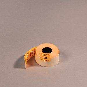 Etiketti 29x28mm oranssi -30_