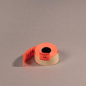 Etiketti 29x28mm punainen -30_ _Huom. päiväys!_