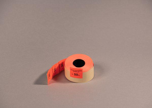 Etiketti 29x28mm punainen -50_
