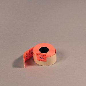 Etiketti 29x28mm punainen -50_ _Huom. päiväys!_