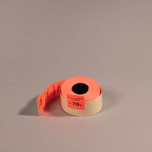 Etiketti 29x28mm punainen -70_